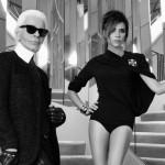 Victoria Beckham poseert voor Karl