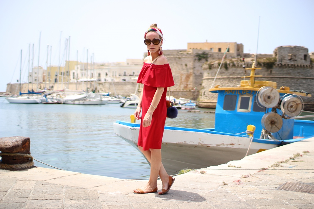 Costes Red Off Shoulder Dress (1)