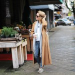 CAMEL COAT & SNEAKERS