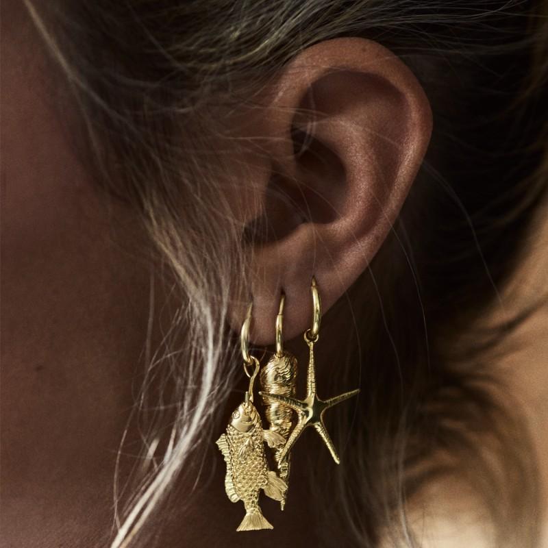 single-fish-ring-earring-silver