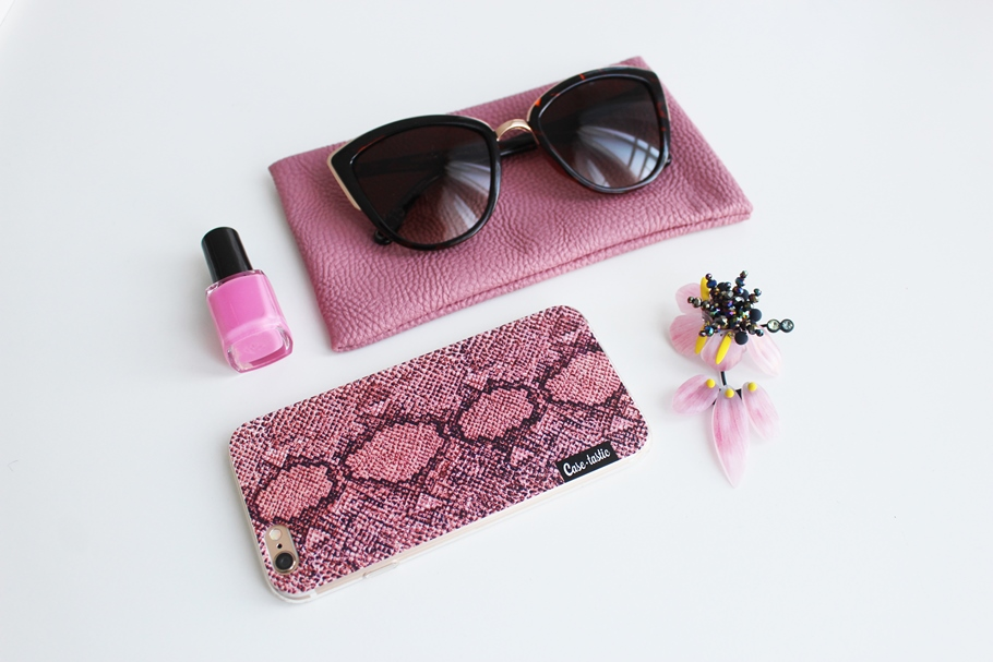 Phone cover pink snake sm