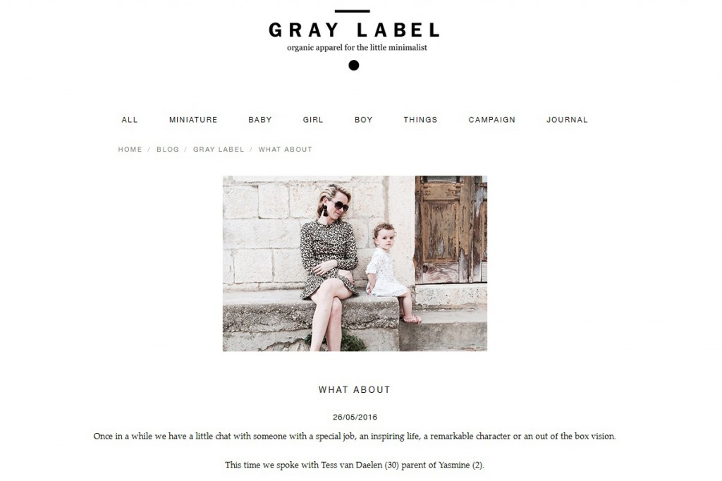 Gray Label interview Tess van Daelen