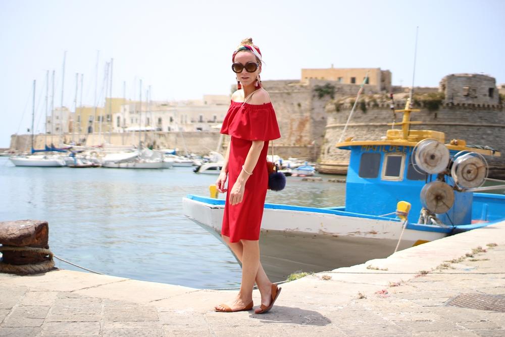 Costes Red Off Shoulder Dress (1)