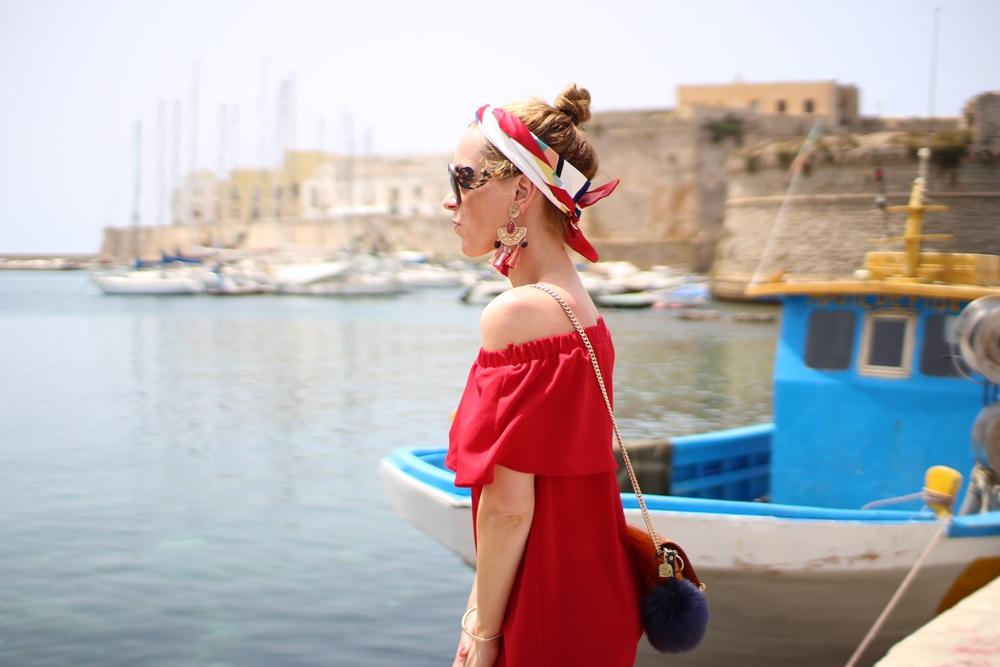 Costes Red Off Shoulder Dress (2)