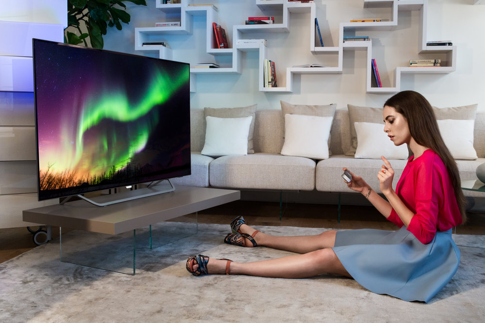 Shooting Philips TV Ambilight